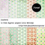 Confetti scrapbook papers