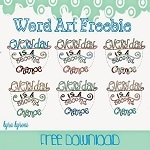 Word Art Freebie