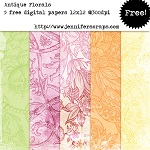 Antique florals paper pack