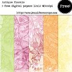 Antique florals paper pack
