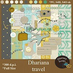 Travel scrapbook kit