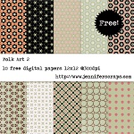 Folkart scrapbook papers