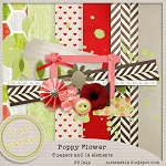Poppy flower - Just Saskia Scrap