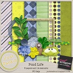 "Free scrapbook kit ""Pond Life""  from Just Saskia Scraps"