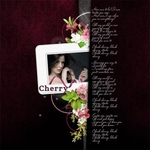 "Scrapbook freebie quick page ""Black Cherry"""