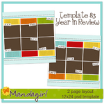 Scrapbook template 83 from mandagirl