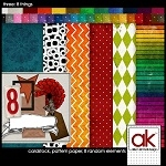 """Free scrapbook kit """"8 things"""" from Allison Kimball – Full size"""