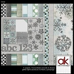 "Free scrapbook kit ""Snow"" from Allison Kimball – Full size"
