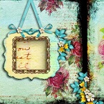 "Free scrapbook vintage qp ""Becaouse of you"" from Aneczkaw designs"