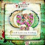 "Free scrapbook vintage kit ""Love"" from Aneczkaw designs"