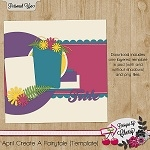 "Free scrapbook layout ""April Create a fairytale"" by mylifeonscrapbooks"
