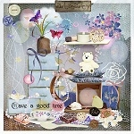 "Free scrapbook kit ""Have a good time""from Artmarty Design"