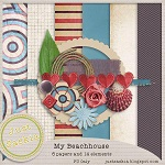 "Free scrapbook kit ""My Beachhouse"" from Just Saskia Scrap"