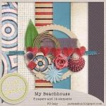 "Free scrapbook kit ""My Beachhouse"" from Just Saskia Scrap"