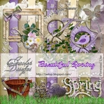 "Scrapbook Freebie Kit  ""Beautiful Spring"" from Jaelop Designs"
