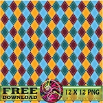"""Free scrapbook paper """"Argyle"""" from enlivendesigns.us"""