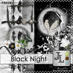 "Scrapbook Freebie ""Black Night"" from Jaelop Designs"