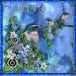 "Free scrapbook kit ""Blue Birds"" from JennyJennyJenny"