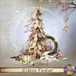 "Free scrapbook kit ""Happy Holidays"" from belscrap"