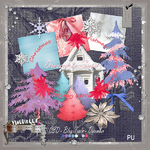 "Scrapbook freebie ""Dressed in snow"""