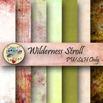 "Free scrapbook papers  ""Wilderness Stroll"" from Cautchalookinimages"