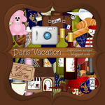 "Scrapbook Freebie ""Paris Vacation"" by capricious"
