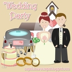 "Scrapbook Freebie ""Wedding Party"" by capricious"