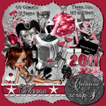 "Scrapbook Freebie Layout ""Pretty Pink New Year"" by sinfullycreativescraps"
