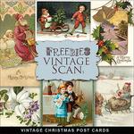 Scrapbook freebie Christmas Vintage Post card from farfarhill