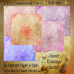 Free scrapbook painted papers from Sweet Cravings- Commercial Use