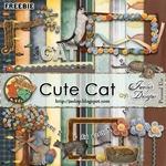 Scrapbook Freebie Cute Cat from Jaelop Designs