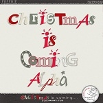 "Free scrapbook alpha ""Christmas is coming"" from Damayanti Studio"
