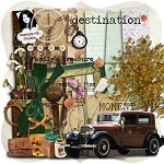 "Free scrapbook kit ""Destination"" from Damayanti Studio"