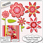 Free Scrapbook Pattern Flowers from Digi Scrap Delights
