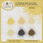 "Free scrapbook ""At The Beach"" sand styles from DigiTee Designs"