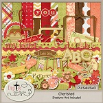 "Free scrapbook kit ""Cherished"" from DigiTee designs"