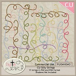 "Free scrapbook elements ""Silly Strings"" from DigiTee designs"