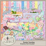 "Free scrapbook kit ""Easter Sunday"" from DigiTee designs"
