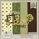 "Free scrapbook kit ""Nature's Bauty"" from DigiTee designs"