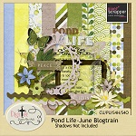 "Free scrapbook kit ""CU Pond Life"" from DigiTee Designs"
