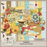 "Free scrapbook kit ""Thankful"" from DigiTee designs"