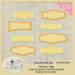 "Free scrapbook ""Whimsy Tags"" from DigiTee Designs"