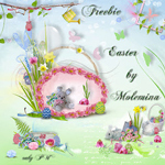"Freebie scrapbook kit ""Easter"" from moleminka"