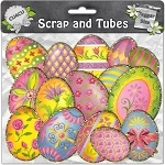 "Free scrapbook elements ""Egg Charms"" from Scrapandtubes"
