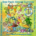 "Free scrapbook kit ""Almost Summer"" from Ellanoir"