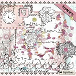 Free scrapbook KIT ANTONIA FRENCHY  from Regina Falango