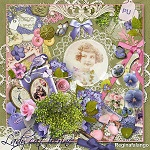 "Free scrapbook kit ""Lady Catherine"" from Regina Falango"
