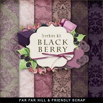"Free scrapbook mini kit ""Black &Berry"" from Far Far Hill"