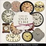 Free scrapbook clock elements from Far Far Hill