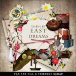 "Free scrapbook mini kit ""East Dreams"" from Far Far Hill"